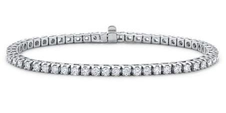 Diamond Tennis Bracelet (3.41 ct Diamonds) in White Gold