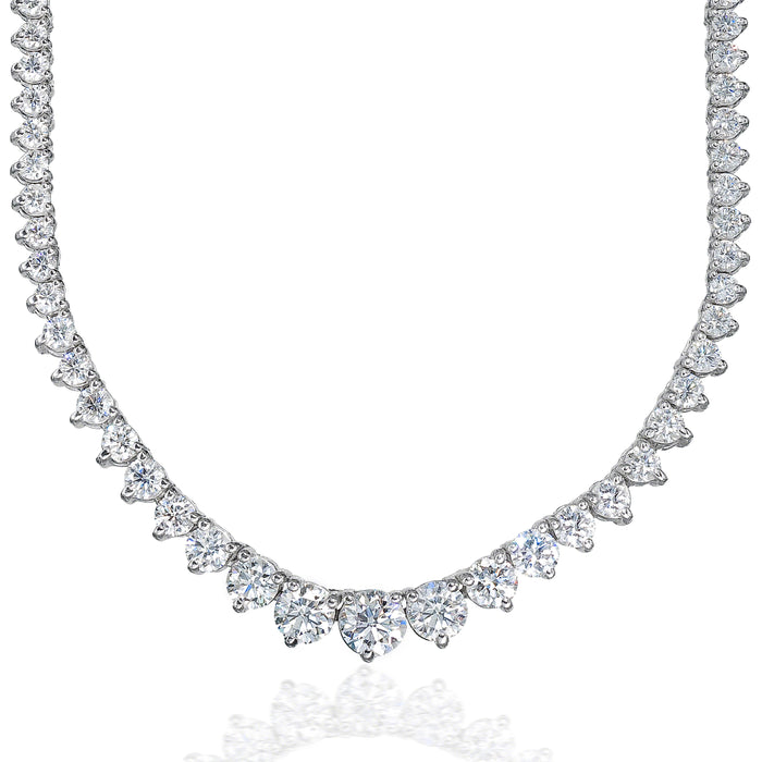 Graduated Necklace (24.08 ct Diamonds) in White Gold