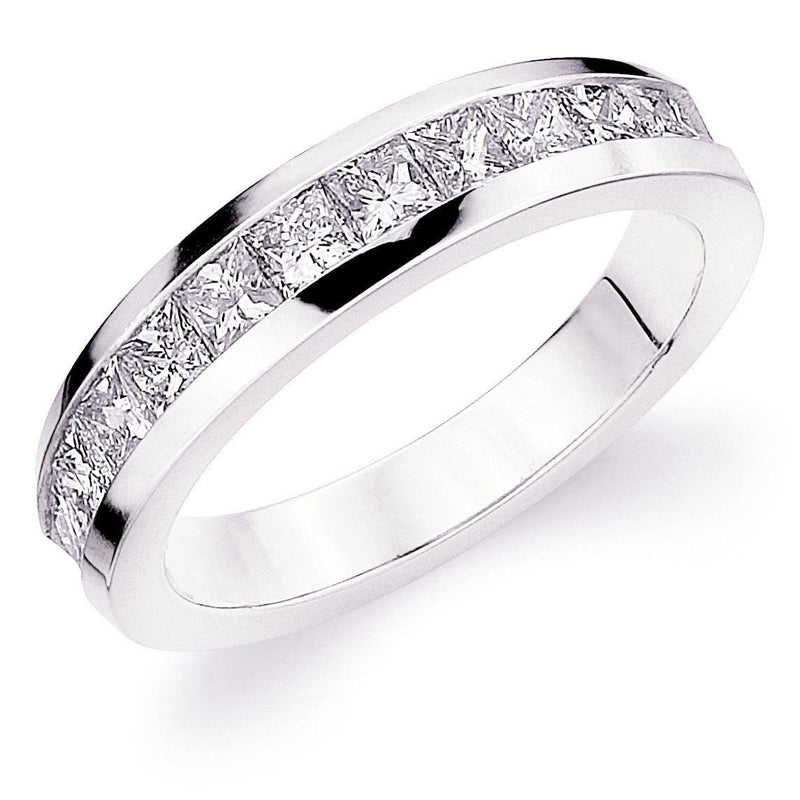 Half Way Channel Set Princess Band (1.25 ct Diamonds) in Platinum