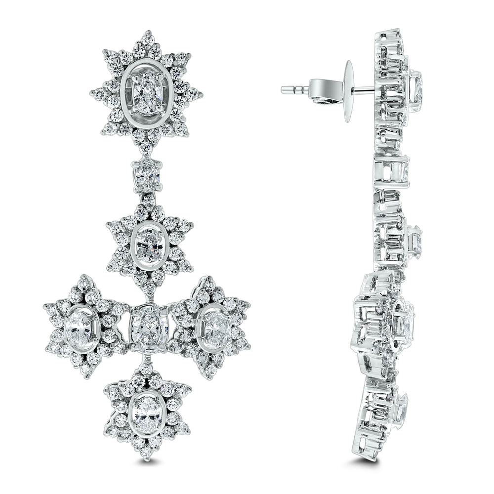The Sistine Cross Diamond Suite (28.51 ct Diamonds) in White Gold