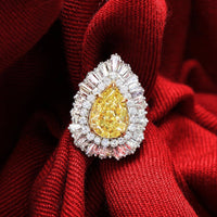 Intense Yellow Pear Ring (5.01 FIY SI1 GIA)