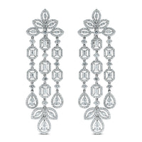 Legacy Diamond Earrings (8.55 ct Diamonds) in White Gold