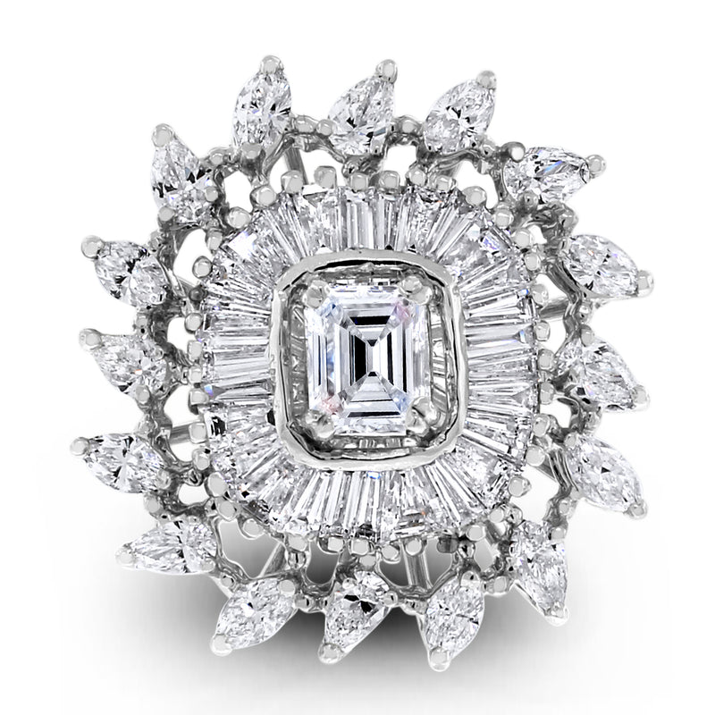 Czarina Diamond Ring (2.50 ct Diamonds) in White Gold