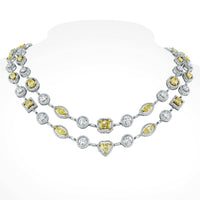 Summer Yellow & White Diamond Suite (21.16 ct Diamonds) in Gold