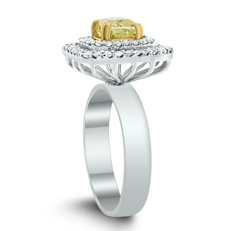 Summer Yellow & White Diamond Ring (1.15 ct Diamonds) in Gold