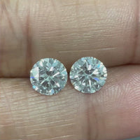 Round Solitaire Diamond Studs (2.02 ct Round G-H VVS2 GIA Diamonds) in White Gold