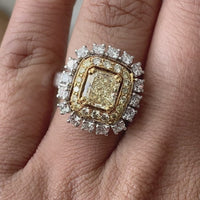 Genevieve Yellow Diamond Cocktail Ring (3.08 ct Diamonds) in Gold