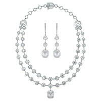 Sansa Solitaire Diamond Suite (16.62 ct Diamonds) in White Gold