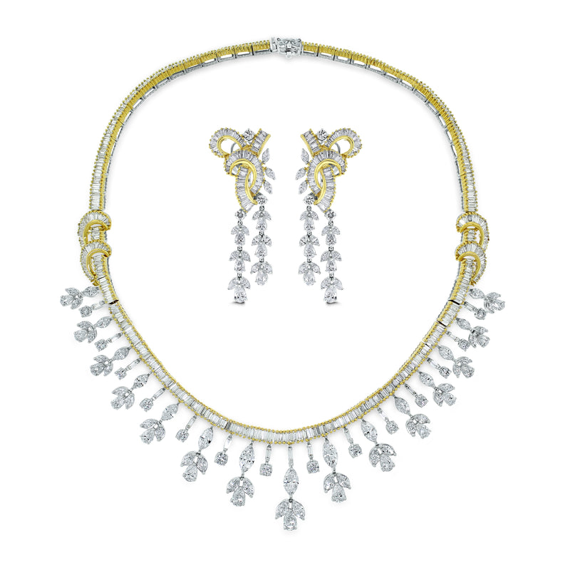 Scintilla Diamond Necklace (29 ct Diamonds) in Two Tone Gold