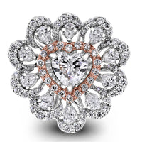 Amore Heart Diamond Ring (1.79 ct Diamonds ) in White Gold