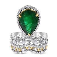 Danya Emerald & Diamond Ring (6.83 cts Emerald & Diamonds) in Gold
