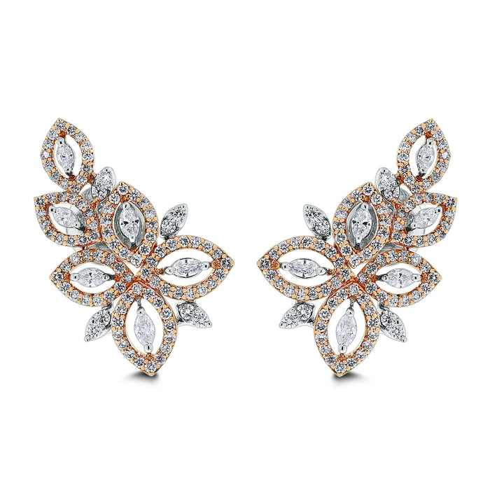 Gaia Diamond Earrings (1.86 ct Diamonds) in Gold