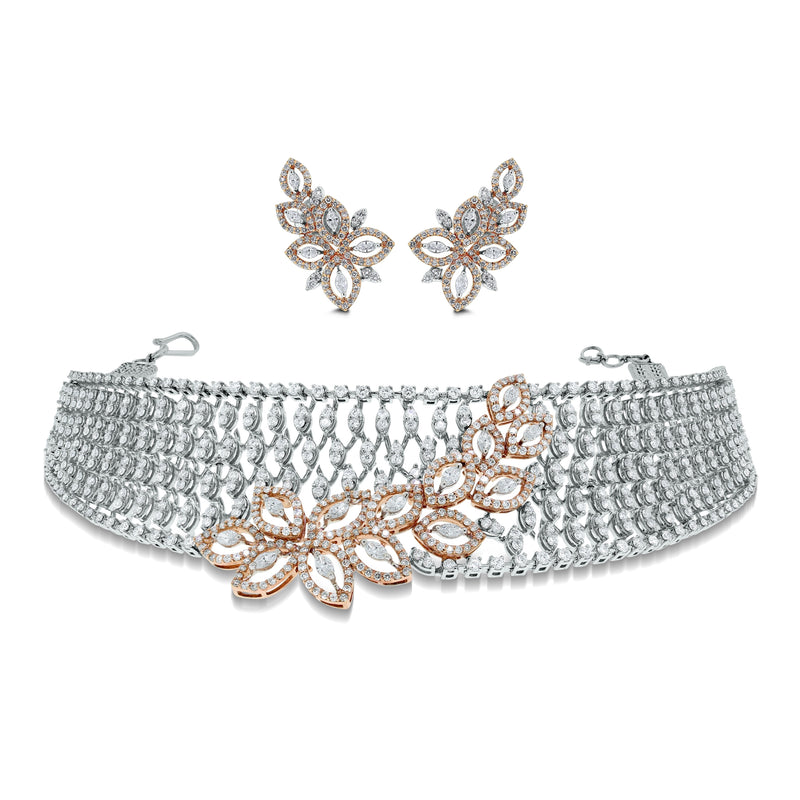 Gaia Diamond Choker Suite (9.83 ct Diamonds) in Gold