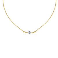 Marquise Diamond Anklet (0.26 ct Diamond) in Yellow Gold