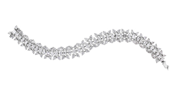 Misha Diamond Bracelet (18.78 ct Diamonds) in Platinum