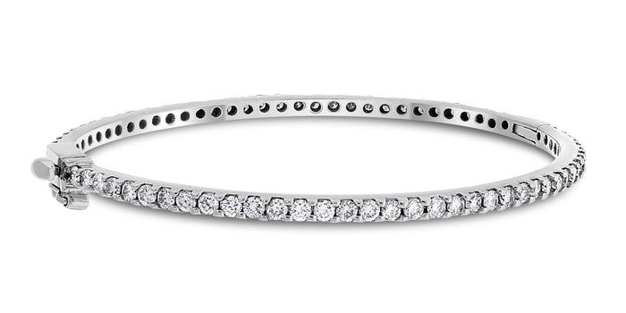 Forever Diamond Bangle (4.00 ct Diamonds) in White Gold