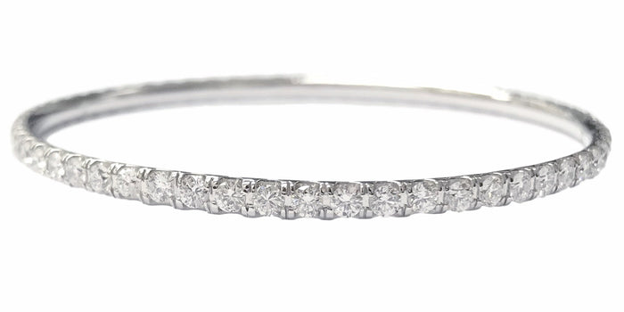 White Gold Tennis Bangle (4.94 ct)