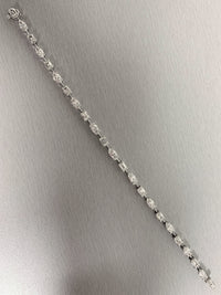Marquise & Emerald Cut Diamond Tennis Bracelet (7.18 ct Diamonds) in Platinum