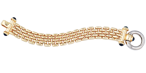 Sapphire Bolt Gold Chain Bracelet (3.00 ct Sapphires) in Yellow Gold