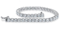 Diamond Tennis Bracelet (11.00 ct Diamonds) in White Gold