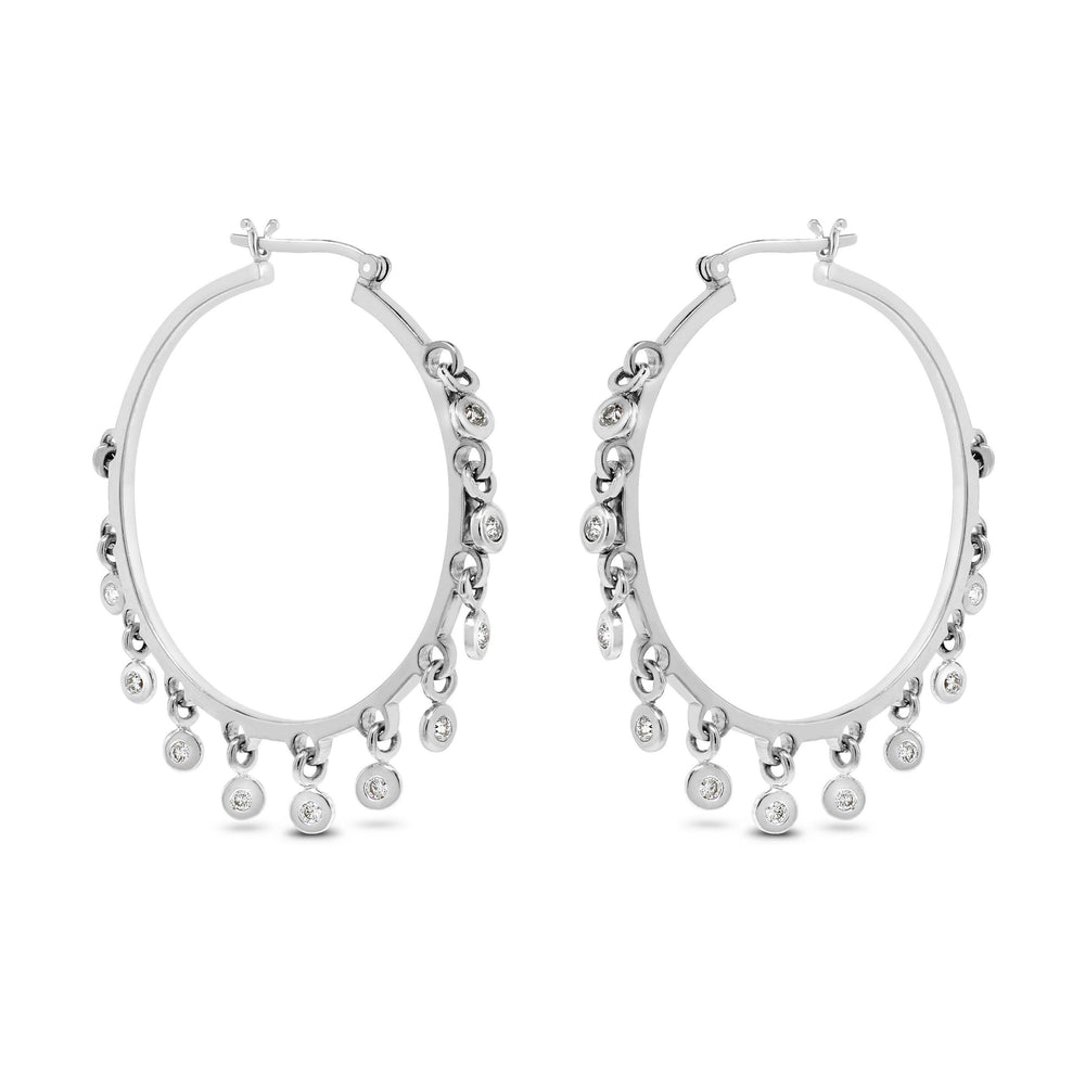 Sway Diamond Hoops (0.66 ct Diamonds) in White Gold