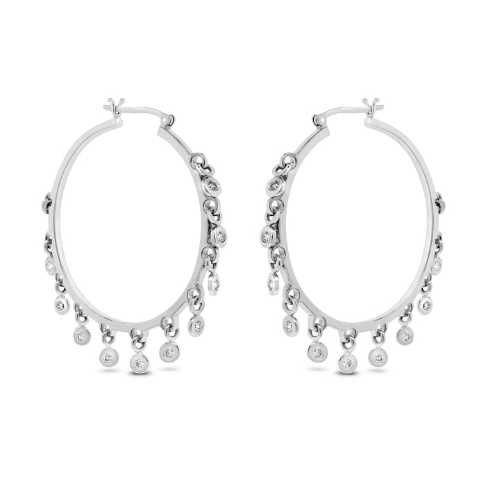 Sway Diamond Hoops (0.66 ct)