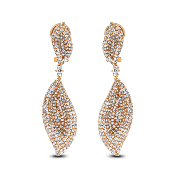 Fall Diamond Earrings (5.36 ct Diamonds) in Rose Gold