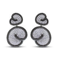 Whirls of Love Diamond Earrings (17.49 ct Diamonds) in Gold