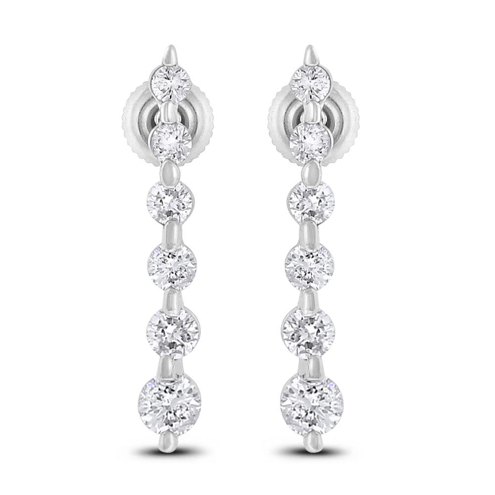 Journey Heritage Earrings (2.06 ct Diamonds) in White Gold