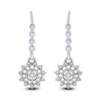Jazz Age Diamond Earrings (1.10 ct Diamonds) in White Gold