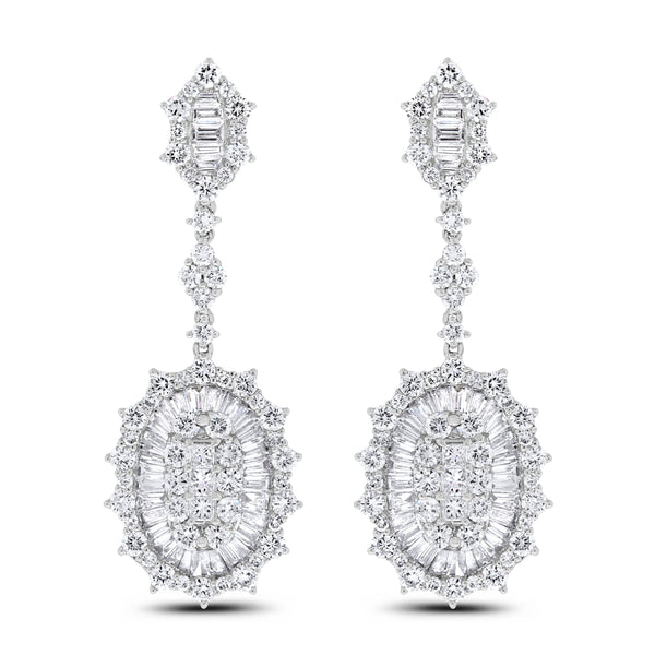 Charm Diamond Earrings (6.05 ct)