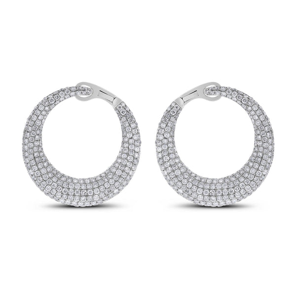 Crescent Moon Diamond Earrings (6.24 ct)