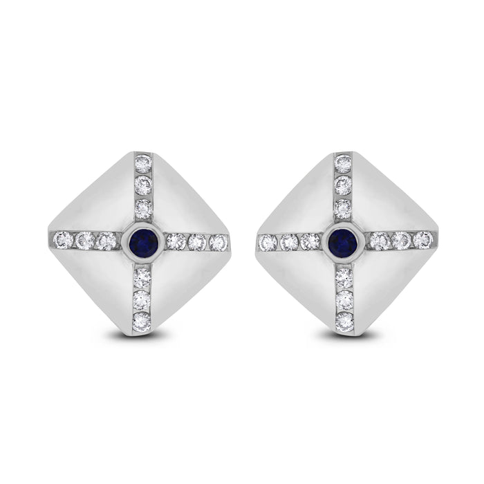 Shield Ear Studs (1.00 ct)