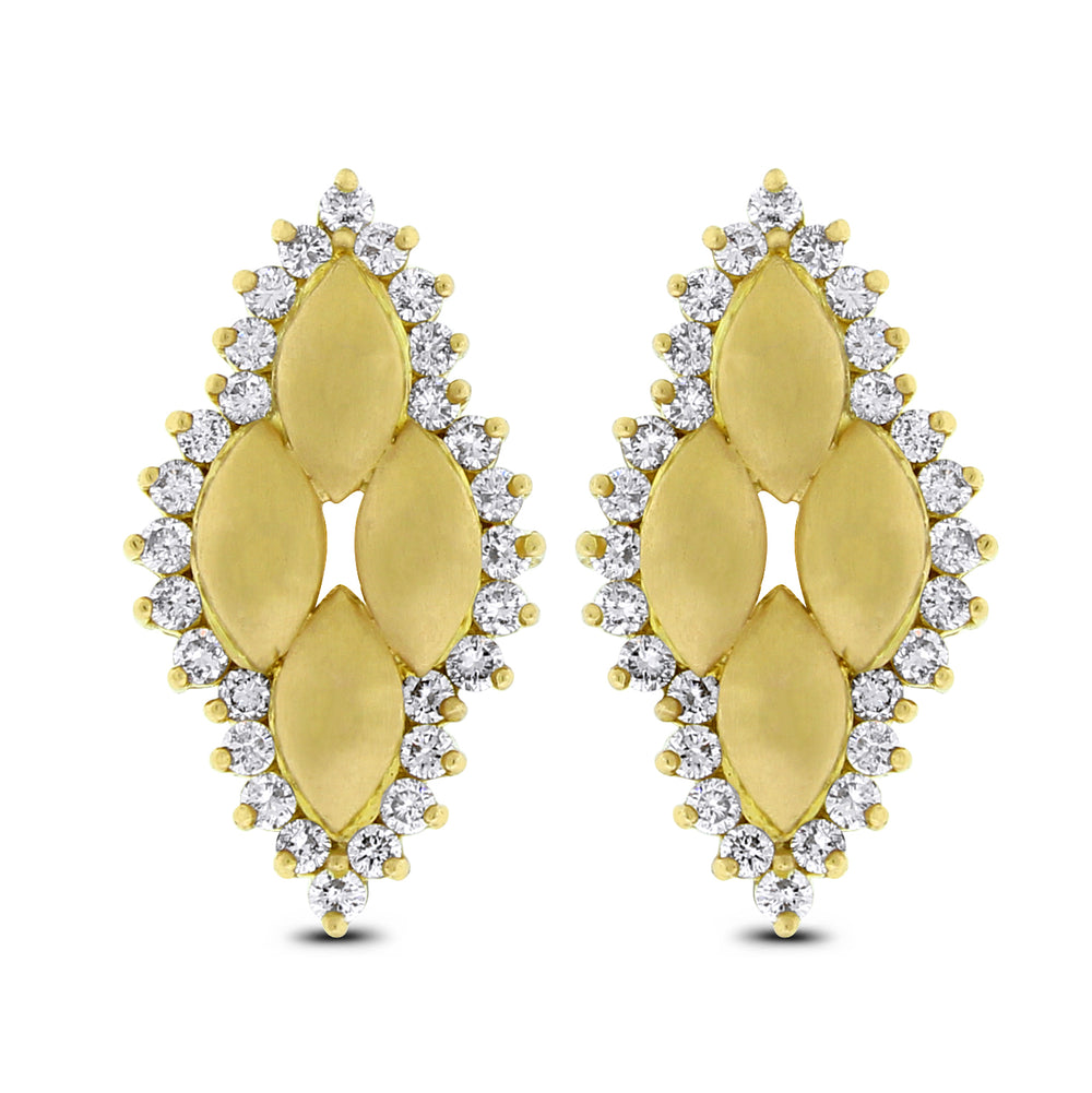 Golden Age Ear Studs (1.25 ct Diamonds) in Yellow Gold