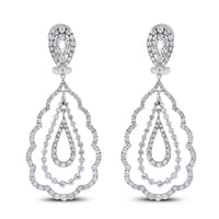 Sabrina Diamond Earrings (6.04 ct Diamonds) in White Gold