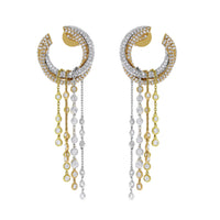 Rain & Sun Chandelier Earrings (4.25 ct Diamonds) in Gold