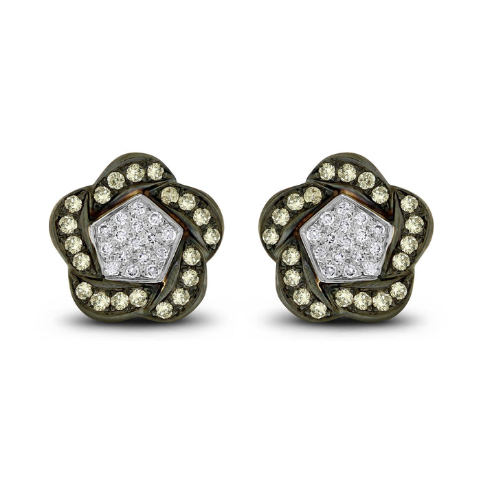 Floral Ear Buttons (1.52 ct)