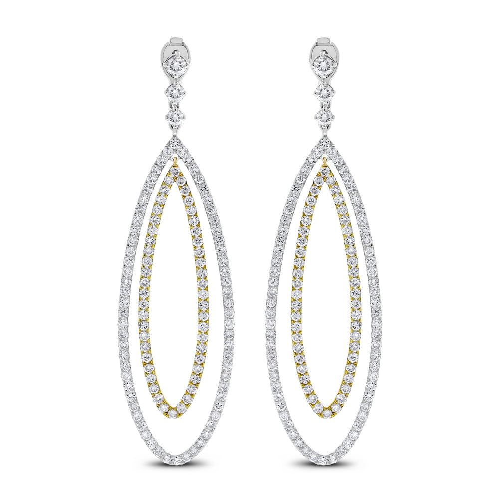 Serena Loop Diamond Earrings (6.84 ct Diamonds) in Gold