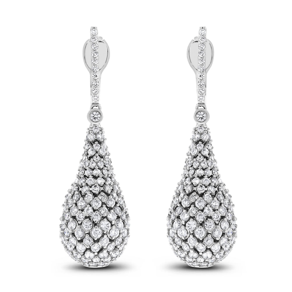 Dazzling Drops Diamond Earrings (7.19 ct Diamonds) in White Gold