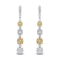 Ice Champagne Diamond Earrings (2.49 ct Diamonds) in Gold