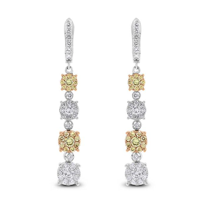 Ice Champagne Earrings (2.49 ct)