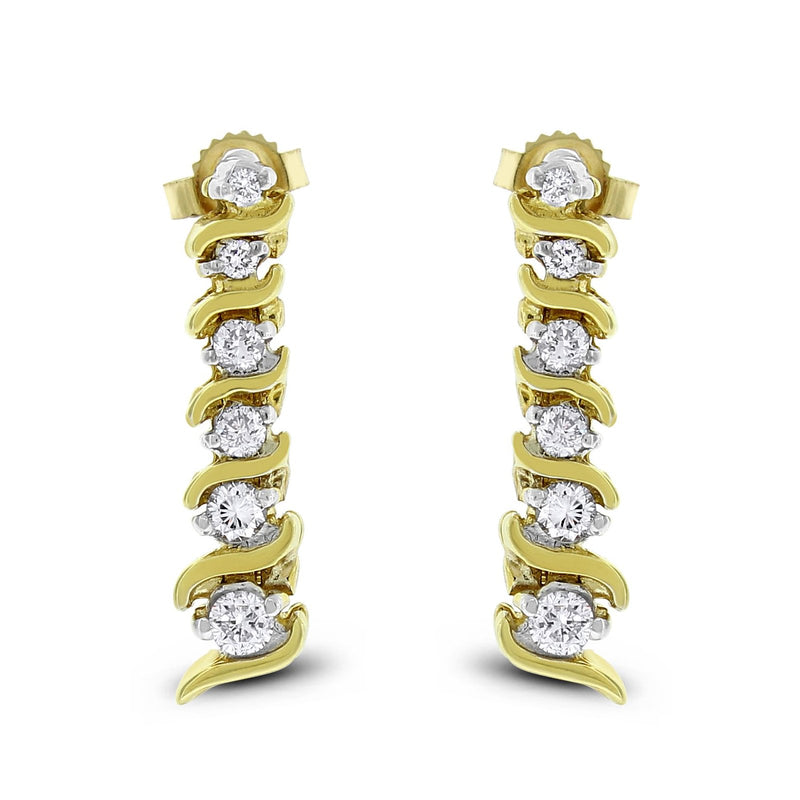 Lorena Dangling Earrings (0.48 ct Diamonds) in Yellow Gold