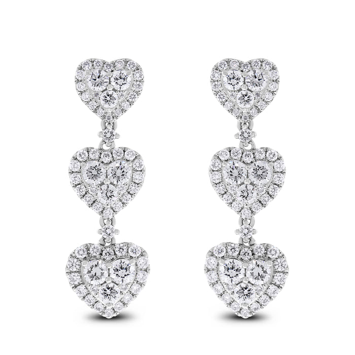 Lilly of Hearts Earrings (2.80 ct)