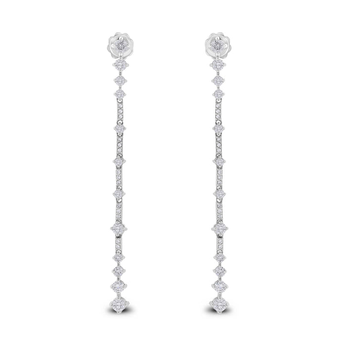 Tug of War Diamond Earrings (1.73 ct)