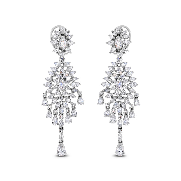 Shanaya Diamond Earrings (11.74 ct Diamonds) in White Gold
