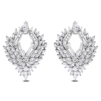 Ayana Diamond Earrings (10.92 ct Diamonds) in White Gold