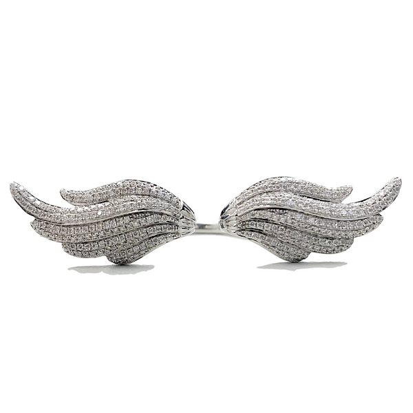 Angel Wings Diamond Ring (1.01 ct Diamonds) in White Gold