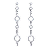 Circles Diamond Earrings (1.75 ct Diamonds) in White Gold