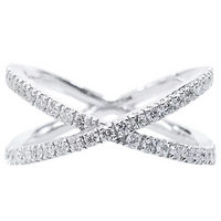 Everyday Cross Diamond Ring (0.50 ct Diamonds) in White Gold