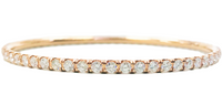 Rose Gold Tennis Bangle (5.03 ct)